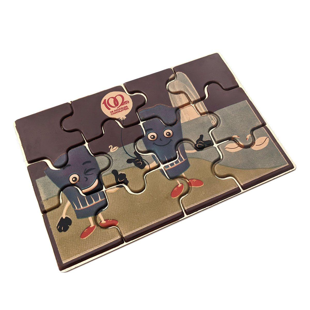 puzzle en chocolat artisanal